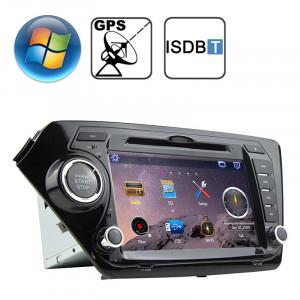 Lecteur DVD de voiture écran de tableau de bord écran plat TFT Windows CE 6.0 de 8,0 pouces pour KIA K2 avec Bluetooth / GPS / RDS / ISDB-T SR316723-20