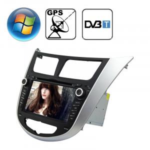 Lecteur DVD pour voiture écran de tableau de bord écran plat TFT 7.0 CE Windows CE 6.0 pour Hyundai Verna avec Bluetooth / GPS / RDS / DVB-T SR31741137-20