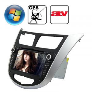 Lecteur DVD de voiture écran de tableau de bord écran plat TFT de 7,0 pouces Windows CE 6.0 pour Hyundai Verna avec Bluetooth / GPS / RDS / ATV SR31761499-20