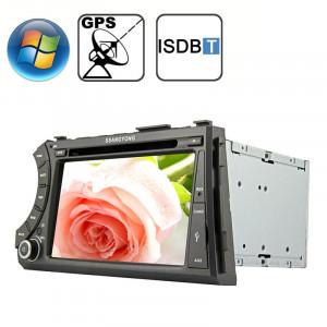 Rungrace 7.0 pouces Lecteur de DVD de voiture au tableau de bord pour Windows CE 6.0 Ecran TFT pour Ssangyong Acyton Kyron avec Bluetooth / GPS / RDS / ISDB-T SR3207551-20