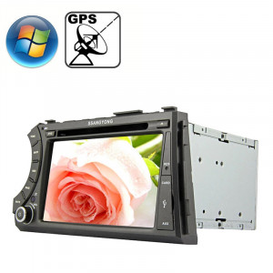 Rungrace 7,0 pouces Windows CE 6.0 Écran TFT Lecteur de DVD de voiture au tableau de bord pour Ssangyong Acyton Kyron avec Bluetooth / GPS / RDS SR32081530-20
