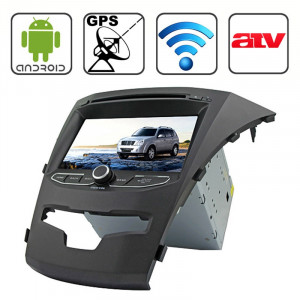 Rungrace 7,0 pouces Android 4.2 Multi-Touch Écran Capacitif Lecteur de DVD de voiture au tableau de bord pour Ssangyong Korando avec WiFi / GPS / RDS / iPod / Bluetooth / VTT SR3213304-20