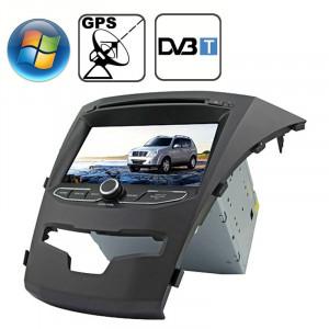 Rungrace 7.0 pouces Lecteur de DVD de voiture au tableau de bord pour Windows CE 6.0 Ecran TFT pour Ssangyong Korando avec Bluetooth / GPS / RDS / DVB-T SR3214482-20