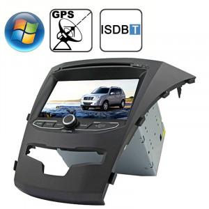 Rungrace 7.0 pouces Lecteur de DVD de voiture au tableau de bord pour Windows CE 6.0 Ecran TFT pour Ssangyong Korando avec Bluetooth / GPS / RDS / ISDB-T SR32151320-20