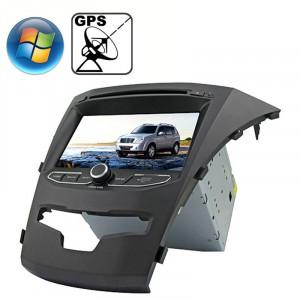 Rungrace 7.0 pouces Lecteur de DVD de voiture In-Dash pour Windows CE 6.0 Ecran TFT pour Ssangyong Korando avec Bluetooth / GPS / RDS SR3216510-20
