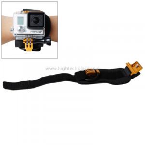 TMC Ceinture de montage pour poignet pour GoPro Hero 4 / 3+, Longueur de ceinture: 31cm, HR177 (Or) ST108J5-20