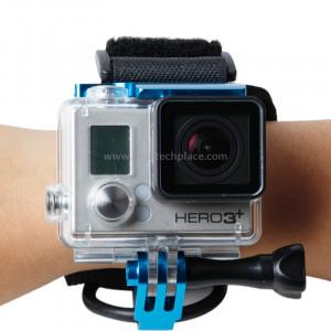 TMC Ceinture de montage pour poignet pour Gopro Hero 4 / 3+, Longueur de ceinture: 31cm, HR177 (Bleu) ST108L1-20