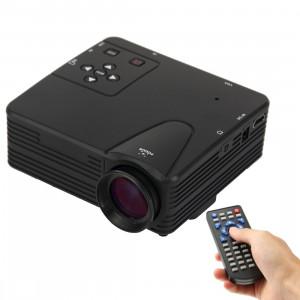 Mini projecteur portatif LED multimédia HD 1080p 80 lumens, prise en charge des cartes HDMI / VGA / AV / USB / SD, modèle: H80 (noir) SH203B1858-20