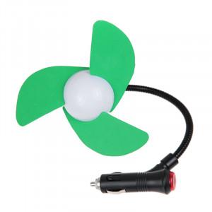 Mini ventilateur de voiture allume-cigare alimenté par trois lames (vert) SM009G1570-20