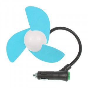 Mini ventilateur de voiture allume-cigare alimenté par 3 lames (bleu) SM009L818-20