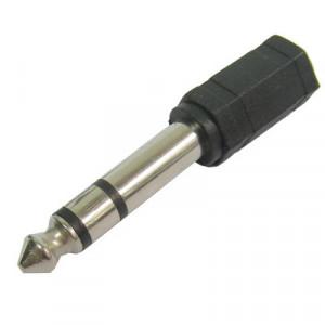 6.35mm Mâle à 3.5mm Stéréo Jack Adaptateur Socket Adaptateur (Noir) S6-3081621-20