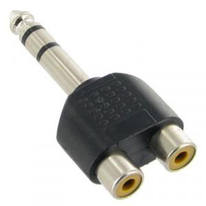 Adaptateur Jack stéréo pour casque RCA 6.35mm vers 2 RCA S6-311330-20