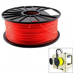 Filaments d'imprimante 3D fluorescents d'ABS 3.0 millimètres, environ 135m (rouge) SH045R1394-20