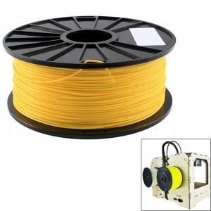 Filaments d'imprimante 3D fluorescents d'ABS 3.0 millimètres, environ 135m (jaune) SH045Y366-20