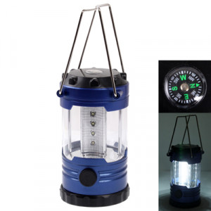 Lumière extérieure de camping, lampe d'éclairage réglable de 12 LED avec la boussole (bleu foncé) SH106D1257-20