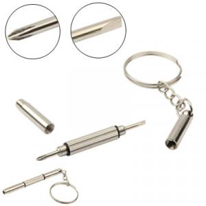 Kit de réparation de téléphone porte-clés / tournevis cruciforme / tournevis à tête plate / tournevis étoile (argent) SK05891722-20