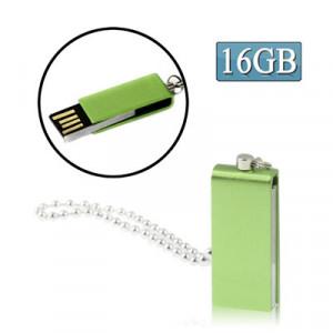 Mini disque flash USB rotatif (16 Go), vert SM07GD1239-20