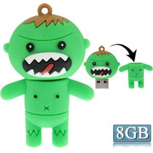 Style de bande dessinée Silicone USB2.0 Flash disque, spécial pour toutes sortes de cadeaux de fête, vert (8 Go) SC267C173-20