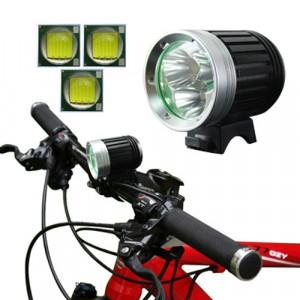 Lampe frontale de bicyclette, 4 modes, 3 x CREE XM-L T6 LED, lumière blanche, flux lumineux: 3800 lm SH0305563-20