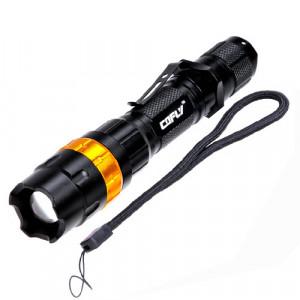 KX-H50 370LM Zoom Convexe Lampe de poche à DEL, Cree Q5 LED, 3 modes, lumière blanche, avec clip et dragonne SH69GD3-20