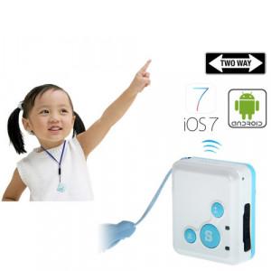 RF-V16 en temps réel GSM Mini GPS Tracker GPRS suivi SOS Communicator avec bracelet de montre (Bleu) SR08BE572-20