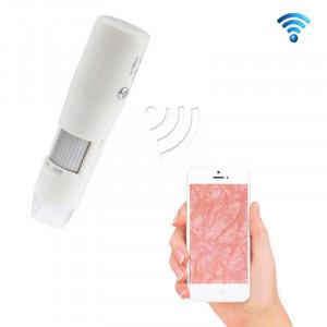 200X Microscope réglable numérique sans fil de poche WIFI pour téléphones intelligents IOS / Android (Blanc) SH0090750-20