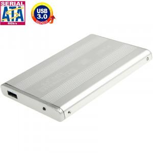 Boîtier externe HDD SATA à haute vitesse de 2,5 pouces, prise en charge USB 3.0 (argent) SH519S582-20
