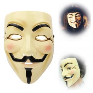 V pour masque en plastique Vendetta Design (jaune) SH033424-20
