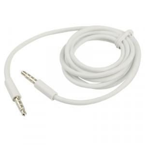 Câble AUX, câble audio stéréo 3,5 mm mâle mini prise pour iPhone / iPad / iPod / MP3, longueur: 1 m (blanc) SA0229373-20