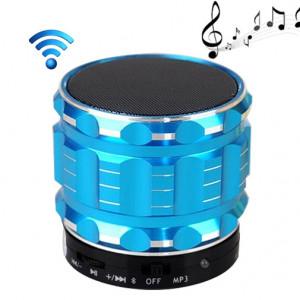 Enceinte portable stéréo Bluetooth S28 en métal avec fonction d'appel mains libres (bleu) SH028L194-20