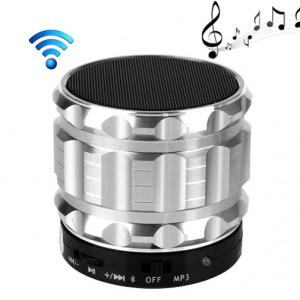 S28 Enceinte portable stéréo Bluetooth avec fonction mains libres (argent) SH028S87-20