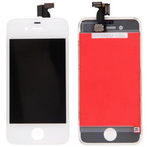 iPartsAcheter 3 en 1 pour iPhone 4 (LCD + Frame + Touch Pad) Digitizer Assemblée (Blanc) SI799W667-20