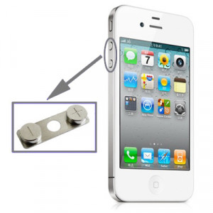 iPartsBuy clé de volume d'origine pour iPhone 4S SI07401511-20