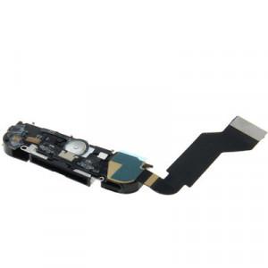 iPartsBuy 4 en 1 pour iPhone 4S (Original MIC Réparation Parler + Original Tail Connecteur Chargeur Câble Flex + Original orateur Buzzer Pièces de rechange Ring + Original câble câble Flex Antenne) Assemblée Dock SI711B1116-20