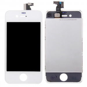 iPartsAcheter 3 en 1 pour iPhone 4S (LCD + Frame + Touch Pad) Assemblage Digitizer (Blanc) SI717W10-20