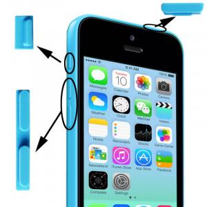 3 en 1 (bouton muet + bouton d'alimentation + bouton de volume) pour iPhone 5C, bleu S349BE1876-20