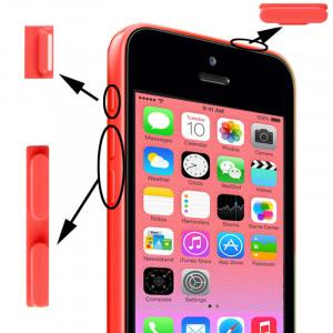 3 en 1 (bouton muet + bouton d'alimentation + bouton de volume) pour iPhone 5C, rose S3149F704-20
