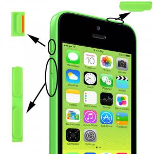 3 en 1 (bouton muet + bouton d'alimentation + bouton de volume) pour iPhone 5C, vert S3149G261-20