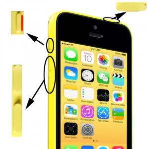 3 en 1 (bouton muet + bouton d'alimentation + bouton de volume) pour iPhone 5C, jaune S3149Y399-20