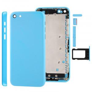 Châssis de logement complet / couvercle arrière avec plaque de montage et bouton de mise en sourdine + bouton d'alimentation + bouton de volume + plateau de carte Nano SIM pour iPhone 5C SC07TT1497-20