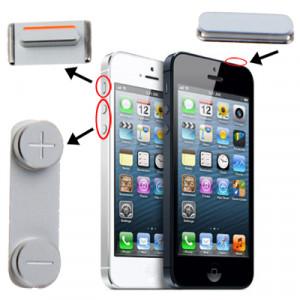 iPartsAcheter 3 en 1 pour iPhone 5 (bouton Mute + bouton d'alimentation + bouton de volume) SI0710616-20