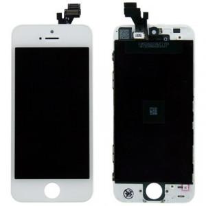 iPartsAcheter 3 en 1 pour iPhone 5 (Original LCD + Cadre LCD + Touch Pad) Digitizer Assemblée (Blanc) SI713W1375-20