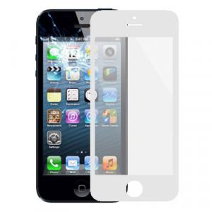 Lentille extérieure en verre pour iPhone 5 et 5S (blanc) SL728W1509-20