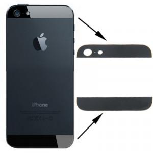 Version OEM Couverture arrière supérieure et inférieure lentille en verre pour iPhone 5 (noir) SV745B260-20