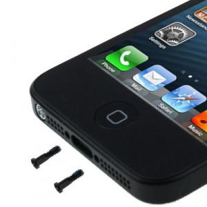 20 PCS iPartsAcheter les vis d'ancrage d'origine pour iPhone 5 / 5S (noir) S2084B1542-20