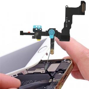 iPartsBuy Original 2 en 1 caméra frontale + capteur câble Flex pour iPhone 5S SI0004969-20