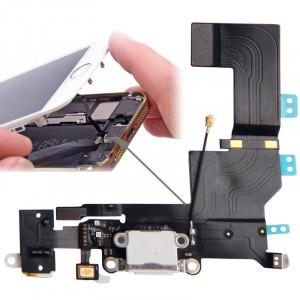 iPartsBuy Version Originale Queue Connecteur Chargeur Câble Flex + Casque Audio Jack Câble Flex Câble pour iPhone 5S (Blanc) SI00121904-20