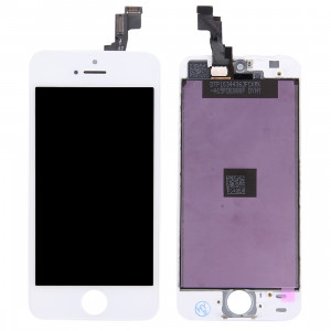 iPartsAcheter 3 en 1 pour iPhone 5S (LCD + Frame + Touch Pad) Assemblage Digitizer (Blanc) SI00481490-20