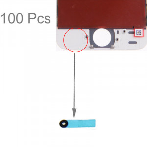 100 PCS iPartsBuy pour le bloc de coton original de l'iPhone 5S pour l'Assemblée de convertisseur analogique-numérique d'affichage à cristaux liquides S101021314-20