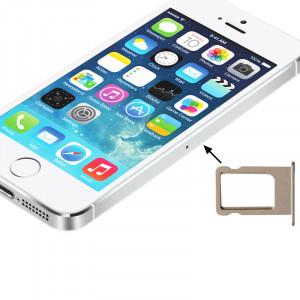 Pour le support de plateau de carte SIM d'origine pour iPhone 5S (or) SP00GD1383-20